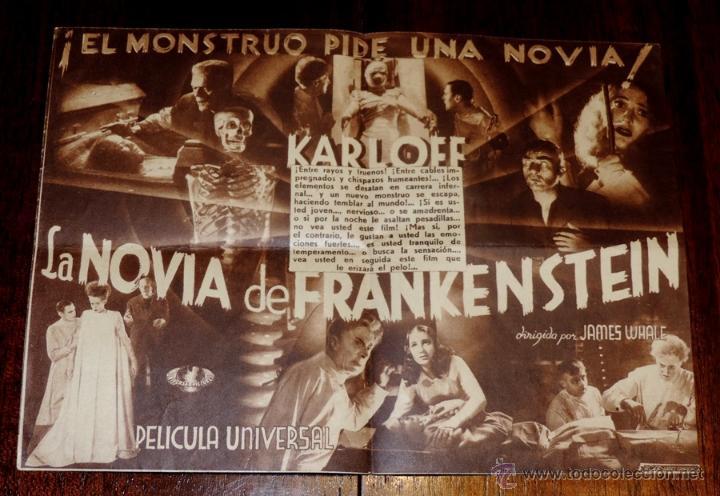 Cine: LA NOVIA DE FRANKENSTEIN, PROGRAMA DE CINE DOBLE, ESTRENO 17 DE MAYO DE 1936, CON PUBLICIDAD DEL SAL - Foto 3 - 41520428