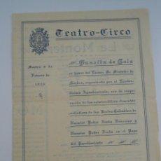 Cine: FOLLETO PROGRAMA DE MANO --TEATRO CIRCO 9 DE FEBRERO DE 1926. Lote 41608803