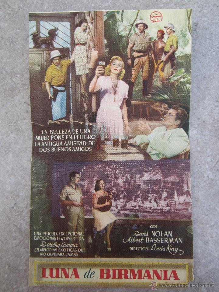 Cine: luna de birmania - programa doble - ideal cinema - benicarlo - 1945 - Foto 2 - 41609900