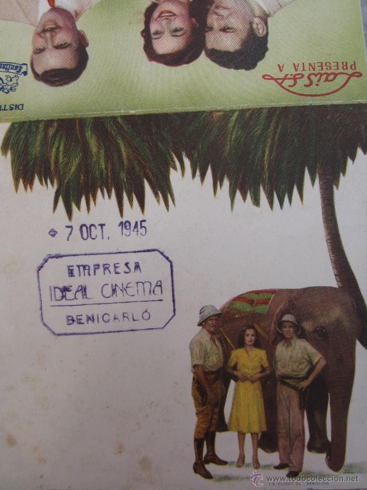 Cine: luna de birmania - programa doble - ideal cinema - benicarlo - 1945 - Foto 3 - 41609900