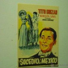 Cine: PROGRAMA SUCEDIO EN MEXICO .-TITO GUIZAR. Lote 41687292