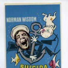 Foglietti di film di film antichi di cinema: SUICIDA ENAMORADO, CON NORMAN WISDOM.. Lote 60618857