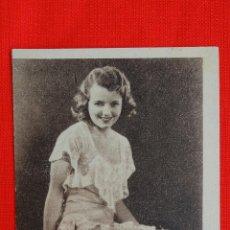 PAPA PIERNAS LARGAS, TARJETA FOX 1932, JANET GAYNOR, CON PUBLICIDAD SALA MERCÈ