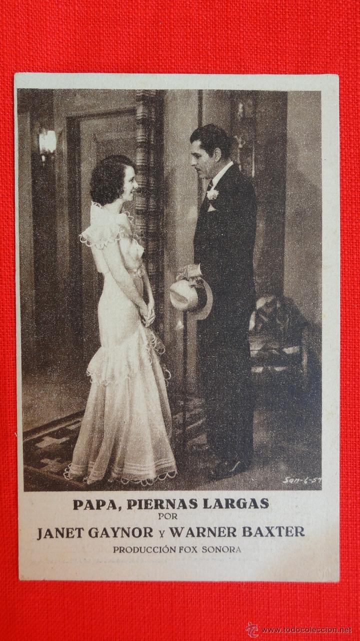 PAPA PIERNAS LARGAS, TARJETA FOX 1932, JANET GAYNOR, CON PUBLICIDAD SALA MERCÈ (Cine - Folletos de Mano - Musicales)