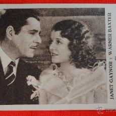 PAPA PIERNAS LARGAS, TARJETA FOX 1932, EXCTE. ESTADO, JANET GAYNOR, CON PUBLICIDAD SALA MERCÈ