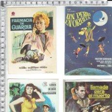 Cine: LOTE 4 FOLLETOS PROGRAMAS DE MANO CINE.. Lote 91959010