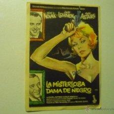 Cine: PROGRAMA LA MISTERIOSA DAMA DE NEGRO.- KIM NOVAK -FRED ASTAIRE - PUBLICIDAD. Lote 41915631