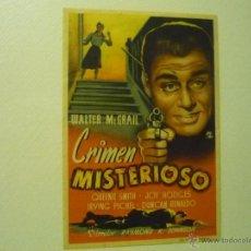 Cine - PROGRAMA CRIMEN MISTERIOSO .- WALTER MC GRAIL - 41926035