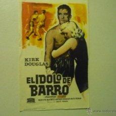 Cine: PROGRAMA EL IDOLO DE BARRO.- KIRK DOUGLAS - . Lote 41980482