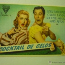 Cine: PROGRAMA COCKTAIL DE CELOS -CAROLE LANDIS - PUBLICIDAD ¡¡RARO¡¡SE ESTRENO COMO MATRIMONIO AL REVES. Lote 41981262