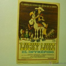 Cine: PROGRAMA DIBUJOS LUCKY LUKE EL INTREPIDO.-COMIC. Lote 107743303