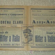 Cine: PROGRAMA 1939 VIAJE DE HITLER A ITALIA, MORENA CLARA, CINE BERGADÁ, BERGA, PATUM. Lote 41988490