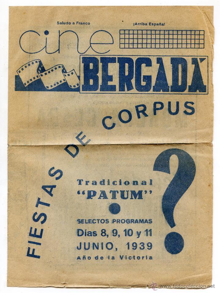 Cine: Programa 1939 Viaje de Hitler a Italia, Morena Clara, Cine Bergadá, Berga, Patum - Foto 2 - 41988490