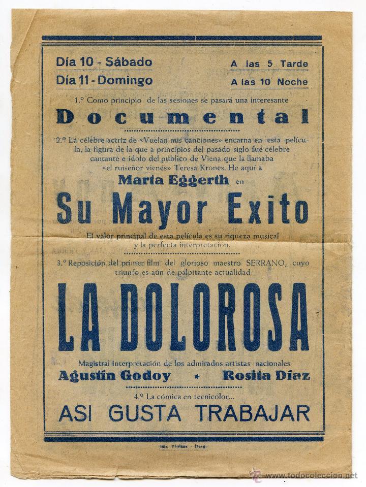 Cine: Programa 1939 Viaje de Hitler a Italia, Morena Clara, Cine Bergadá, Berga, Patum - Foto 4 - 41988490