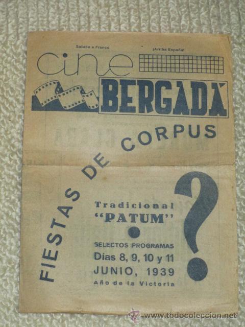 Cine: Programa 1939 Viaje de Hitler a Italia, Morena Clara, Cine Bergadá, Berga, Patum - Foto 5 - 41988490