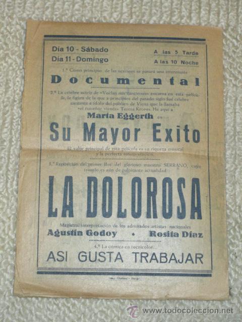 Cine: Programa 1939 Viaje de Hitler a Italia, Morena Clara, Cine Bergadá, Berga, Patum - Foto 8 - 41988490