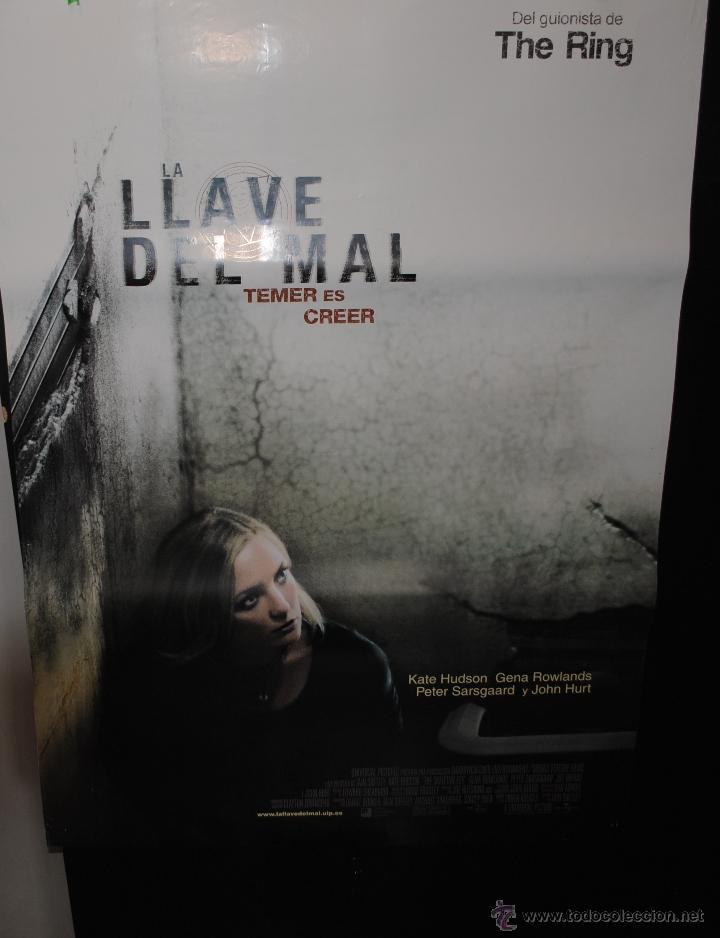 CARTEL DE CINE ORIGINAL DE LA PELÍCULA LA LLAVE DEL MAL, TEMER ES CREER, 70 POR 100CM (Cine - Folletos de Mano - Terror)