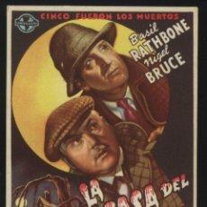 Cine: P-3621- LA CASA DEL MIEDO (THE HOUSE OF FEAR) (HISPARTIS FILMS) BASIL RATHBONE - NIGEL BRUCE. Lote 114053603