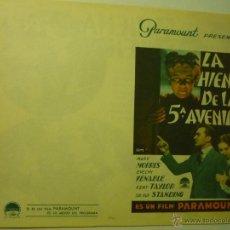 Cine: PROGRAMA DOBLE LA HIENA DE LA 5 AVENIDA - MARY MORRIS -VER FOTO MUY BIEN CONSERVADO. Lote 42136391