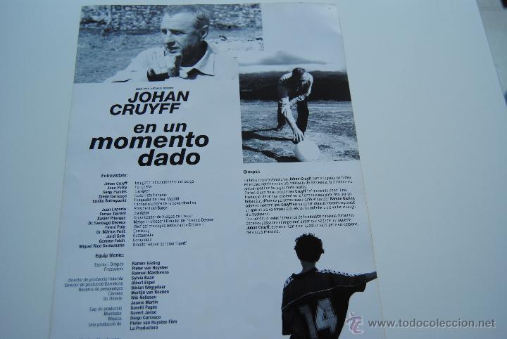 Cine: CARTEL DE LA PELICULA EN UN MOMENTO DADO JOHAN CRUYFF 21 x 30 cm - Foto 2 - 42182988