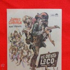 Cine: EL OESTE LOCO, SENCILLO 1970, JAMES COBURN CARROLL O'CONOR, CON SELLO CINE RECREATIVO. Lote 42183795