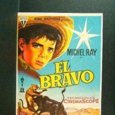 Cine: EL BRAVO-IRVING RAPPER-MICHEL RAY-ILUSTRADO POR SOLIGO-OSCAR MEJOR ARGUMENTO-CINE-TARRAGONA-1961. Lote 42243181