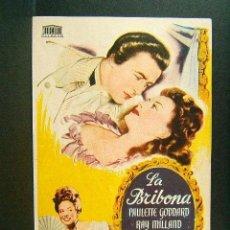 Cine: LA BRIBONA-MITCHEL LEISEN-PAULETTE GODDARD-RAY MILLAND-PARAMOUNT MERCURIO-CINE MODERNO-GERONA-1948. Lote 42243246