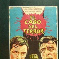 Cine: EL CABO DEL TERROR-J.LEE THOMPSON-GREGORY PECK-ROBERT MITCHUM-ALBERICIO-CINE EL BUENOS AIRES-(1962). Lote 42262899