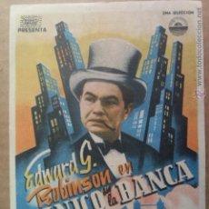 Cine: PANICO EN LA BANCA IMPRESO POR LA PARTE POSTERIOR. Lote 42279727