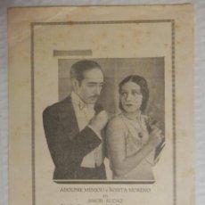 Flyers Publicitaires de films Anciens: AMOR AUDAZ - PROGRAMA DE MANO SENCILLO - AÑO 1930. Lote 42280522
