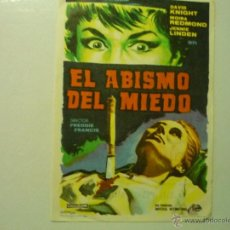 Cine: PROGRAMA EL ABISMO DEL MIEDO - DAVID KNIGHT -PÙBLICIDAD. Lote 42301567