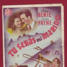 Cine: PROGRAMA DE MANO - TU SERÁS MI MARIDO. Lote 42319489