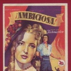 Cine: PROGRAMA DE MANO - AMBICIOSA. Lote 42360206