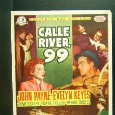 Cine: CALLE RIVER,99-PHIL KARLSON-JOHN PAYNE-EVELYN KEYES-BRAD DEXTER-CB FILMS-CINE OLIMPIA-1954. Lote 42406071
