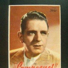 Folhetos de mão de filmes antigos de cinema: CAMPEONES-RAMON TORRADO-LUCHY SOTO-ZAMORA-GOROSTIZA-QUINCOCES-RAMON POLO-CINE SALON MODERNO-(1943). Lote 42410170