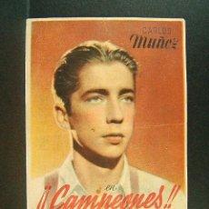 Folhetos de mão de filmes antigos de cinema: CAMPEONES-RAMON TORRADO-ZAMORA-GOROSTIZA-QUINCOCES-RAMON POLO-CINE TEATRO PRINCIPAL-MONTBLANC-(1943). Lote 42410777