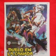 Cine: DUELO EN LA CAÑADA, SENCILLO ORIGINAL, EXCTE. ESTADO. MARY ESQUIVEL JAVIER ARMET, SIN PUBLICIDAD. Lote 42423824