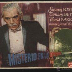Cine: P-3756- MISTERIO EN LA OPERA (THE CLIMAX) (CINE TARAMONA - SALAMANCA) BORIS KARLOFF - SUSANNA FOSTER. Lote 115590182