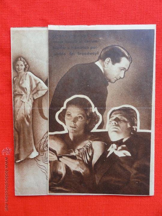 GIGOLETTE, DOBLE 1936 EXCLNTE ESTADO, ADRIEENNE AMES RALPH BELLAMY, CON PUBLICIDAD EUTERPE (Cine - Folletos de Mano - Aventura)