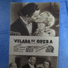 Cinema - velada de opera - benifairo de los valles - cine pallares incautado control obrero cnt - ugt 1937 - 42588280