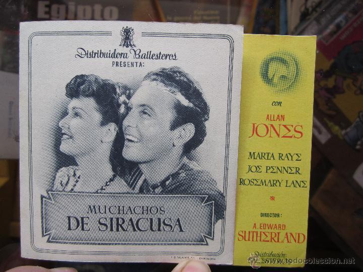 Cine: muchachos de siracusa - ideal cinema benicarlo 1946 - Foto 3 - 42588517