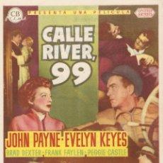 Cine: CALLE RIVER 99 - JOHN PAYNE, EVELYN KEYES, BRAD DEXTER, FRANK FAYLEN - DIRECTOR PHIL KARLSON. Lote 42618832