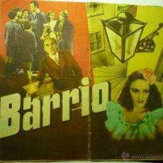 Cine: PROGRAMA DOBLE RARO BARRIO .-GUILLERMO MARIN.-MANOLO MORAN.-PUBLICIDAD CINE IDEAL 22X19,5. Lote 42651470
