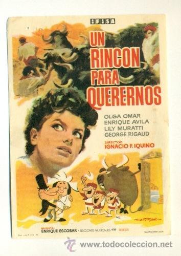 UN RINCON PARA QUERERNOS - PROGRAMA ORIGINAL SIN PROPAGANDA - (Cine - Folletos de Mano - Drama)