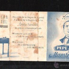 Cine: PROGRAMA DE CINE DOBLE. C/P. MAESTRO LEVITA. CINEMA CLAVEL. I.G.VILADOT. Lote 42750302