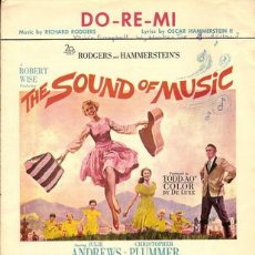 Cine: DO - RE MI - THE SOUND OF MUSIC: JULIE ANDREWS - PLUMMER - MUSIC BY RICHARD RODGERS - LYLICS BY OSCA. Lote 152101064