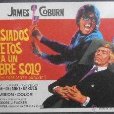Flyers Publicitaires de films Anciens: DEMASIADOS SECRETOS PARA UN HOMBRE SOLO, FOLLETO DE MANO, (4162) , JANO ,CONSERVACION:. Lote 42767314