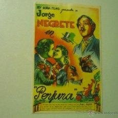 Cine: PROGRAMA PERJURA.- JORGE NEGRETE--PUBLICIDAD. Lote 42773849