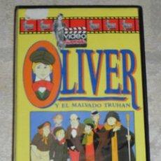 Cine: VENDO PELICULA VHS (OLIVER) Y DE REGALO OTRA PELICULA (BLANCANIEVES Y LOS 7 ENANITOS). VER FOTOS.. Lote 42783721
