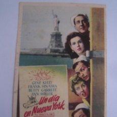 Cine: UN DIA EN NUEVA YORK FOLLETO DE MANO ORIGINAL ESTRENO IMPRESO ANN MILLER GENE KELLY. Lote 42816372